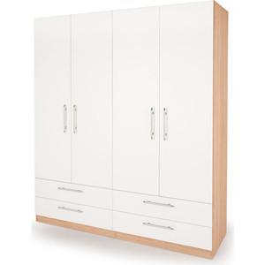 Шкаф комбинированный Гамма Шарм 140х45 дуб сонома+белый