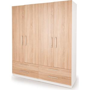 Шкаф комбинированный Гамма Шарм 160х45 белый+дуб сонома