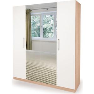 Шкаф комбинированный Гамма Шарм 140х60 дуб сонома+белый