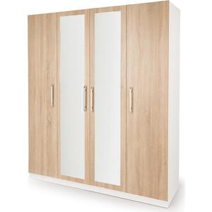 Шкаф комбинированный Гамма Шарм 160х60 белый+дуб сонома
