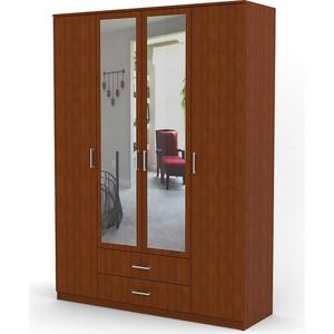 Шкаф комбинированный Гамма Квартет 140х60 вишня академия
