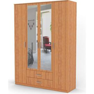 Шкаф комбинированный Гамма Квартет 140х60 ольха