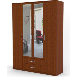 Шкаф комбинированный Гамма Квартет 160х60 вишня академия фото