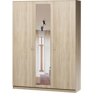 Шкаф комбинированный Гамма Лайт 150х60 дуб сонома с зеркалом шкаф напольный с дверью смк кармэн 60х85 дуб сонома