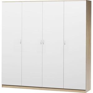 Шкаф четырехдверный Гамма Лайт 180х60 дуб сонома+белый