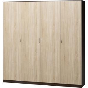 Шкаф четырехдверный Гамма Лайт 180х60 венге+дуб сонома