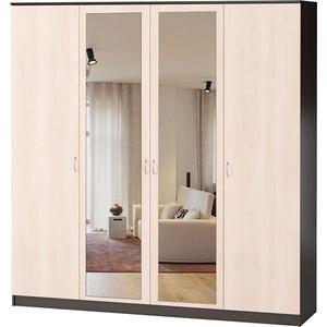 Шкаф комбинированный Гамма Лайт 180х60 веге+вяз с зеркалом