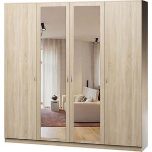 Шкаф комбинированный Гамма Лайт 180х60 дуб сонома с зеркалом