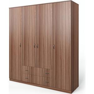 Шкаф четырехдверный Гамма Мелодия 160х60 ясень шимо темный