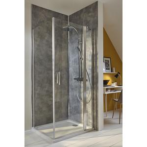 Дверное полотно Jacob Delafon Contra 100x200 стекло прозрачное, профиль хром (E22T101-GA)