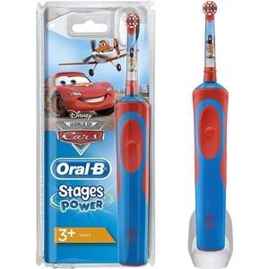 Электрическая зубная щетка Oral-B Stages Power Тачки красный D12.513K