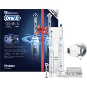 Набор электрических зубных щеток Oral-B Genius 8900 белый