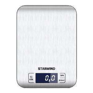 лучшая цена Кухонные весы StarWind SSK6673 серебристый