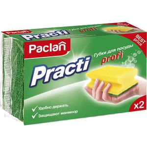 Губка Paclan Practi Profi для посуды, 2 шт paclan practi universal губки для посуды 5 шт