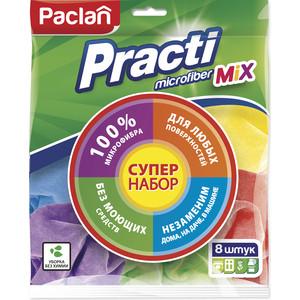 Салфетка Paclan Practi Mix микрофибра, 8 шт