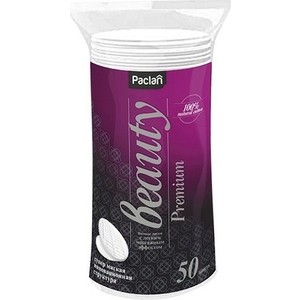 Ватные диски Paclan Beauty Premium косметические, 50 шт