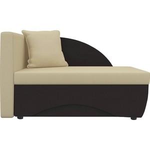 Кушетка Шарм-Дизайн Трио экокожа коричневый/бежевый левый