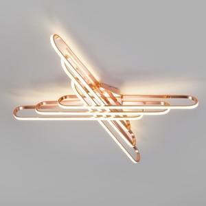 Потолочный светодиодный светильник Eurosvet 90133/6 розовое золото