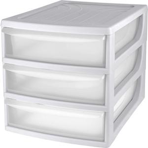 Органайзер Бытпласт комод настольный , формат А4, 3 ящика, 260х368х265 мм, серый