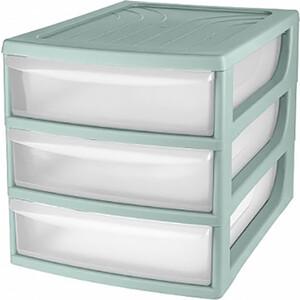 Органайзер Бытпласт комод настольный , формат А6, 3 ящика, 175х186х214 мм, серый