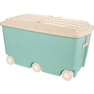 Ящик для игрушек Бытпласт на колесах, 66,5 л, размер 685х395х385 мм