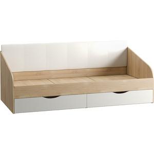 Кровать одинарная Моби Линда 01.60 дуб сонома/белый/кз белый кровать mobi линда 303 90 кровать с пм дуб сонома белый