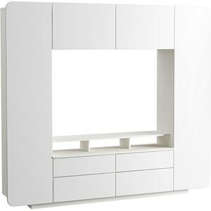 лучшая цена Шкаф комбинированный Моби Румба 03.272 белый/белый глянец