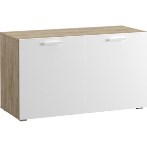 Шкаф комбинированный Моби Токио 08.41 дуб серый/белый