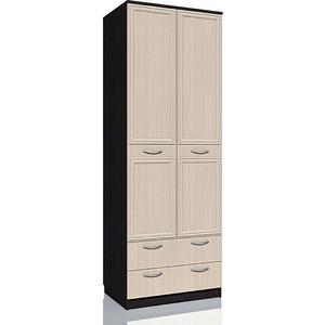 Шкаф комбинированный с ящиками Сильва НМ 013.02-03 М Браво венге/дуб