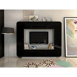 Шкаф комбинированный Сильва НМ 014.59 Некст М белый/черный глянец