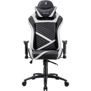 Кресло компьютерное TESORO Zone speed F700 black-white emo zone