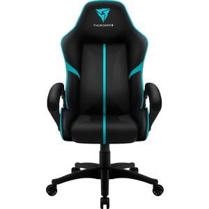 Кресло компьютерное ThunderX3 BC1 Classic black-cyan air кресло компьютерное thunderx3 uc5 b [black] air с подсветкой 7 цветов