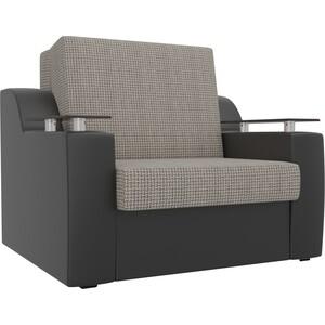 Кресло-кровать АртМебель Сенатор корфу 02 экокожа черный (80)