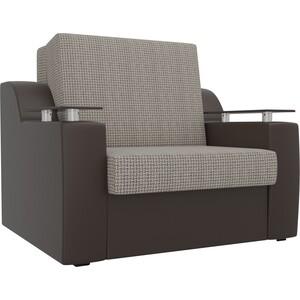 Кресло-кровать АртМебель Сенатор корфу 02 экокожа коричневый (80)