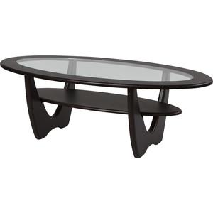 Стол журнальный Калифорния мебель Юпитер со стеклом венге