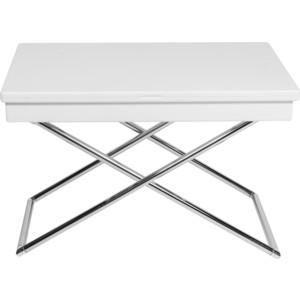 Стол журнальный Калифорния мебель Универсальный трансформируемый Андрэ белый