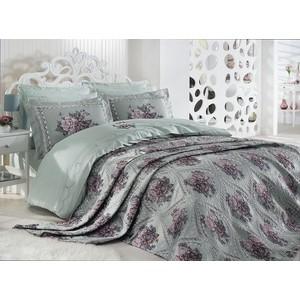 Комплект постельного белья Dantela Vita евро + 4 наволочки 50x70 сатин (10063 мятный)