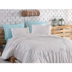 Комплект постельного белья Dantela Vita евро + 4 наволочки 50x70 сатин (10066 мятный) комплект белья verossa stone евро наволочки 50x70 и 70x70