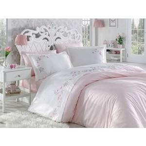 цена на Комплект постельного белья Dantela Vita евро + 4 наволочки 50x70 сатин (10066 пудра)