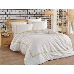 Комплект постельного белья Dantela Vita евро + 4 наволочки 50x70 сатин (10068 золотой)