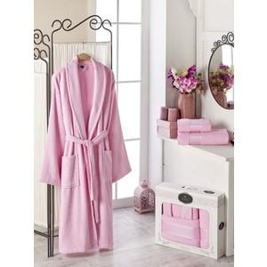 Набор из халата и 2 полотенец Do and Co Gold (10484 светло- розовый) цена и фото