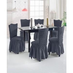 Набор чехлов для стульев 6 предметов Juanna (8029 антрацит)