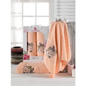 Набор из 2 полотенец Merzuka Hibiscus махровое 50x80/70x130 (9724 оранжевый)