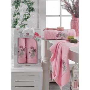 Набор из 2 полотенец Merzuka Anemone махровое 50x80/70x130 (9805 светло- розовый)