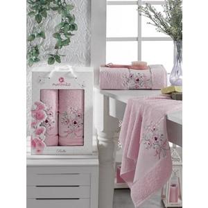 Набор из 2 полотенец Merzuka Bella (9806 розовый) стоимость