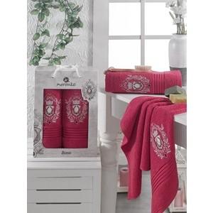 Набор из 2 полотенец Merzuka Boss (9807 бордовый) цена и фото
