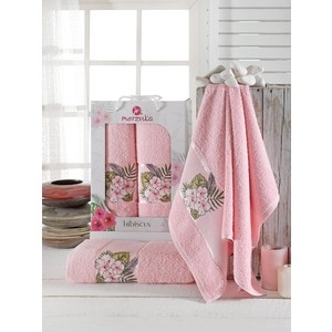 Набор из 2 полотенец Merzuka Hibiscus (9724 светло- розовый) косметичка hibiscus love