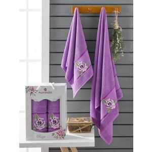 Набор из 2 полотенец Merzuka Roza (10171 фиолетовый)