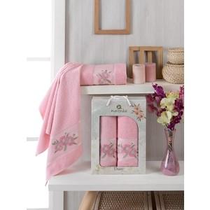 Набор из 2 полотенец Merzuka Daisy Gold (10187 розовый)