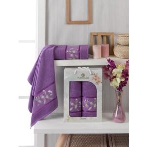 Набор из 2 полотенец Merzuka Daisy Gold (10187 фиолетовый)